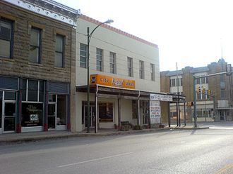 Jacksboro, Texas - Businesses in downtown Jacksboro