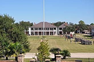 Jackson Barracks - Jackson Barracks, October 2011. The Washington Artillery on the Parade Field