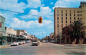 Harlingen, Texas - Harlingen's Jackson Street in the late 1950s.
