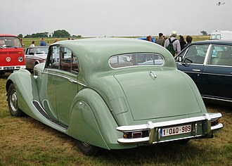 Jaguar Mark V - Image: Jaguar Mark V (1949) at Schaffen Diest rear three quarters