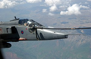 SEPECAT Jaguar - RAF Jaguar GR3 during mid-air refueling.
