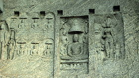 Jain Art & Carvings at Chitharal Hill Temple.JPG