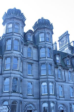 James Gowans (architect) - James Gowan's tenement on Castle Terrace Edinburgh