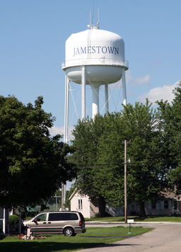 Jamestown, Indiana water tower.png