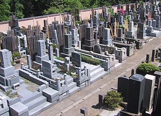 Japanese funeral - A graveyard in Tokyo