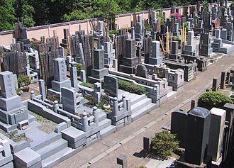 Japanese funeral - A graveyard in Tokyo