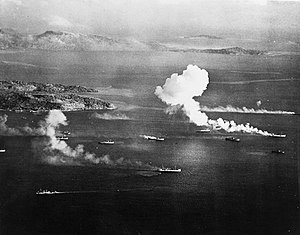 Operation hailstone wikipedia japanese shipping under attack in truk lagoon during operation hailstone 17 february 1944 80 thecheapjerseys Choice Image