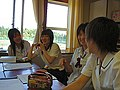 Japanese students girls discussion group.jpg