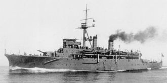 Jingei-class submarine tender - Image: Japanese submarine tender Jingei 1923