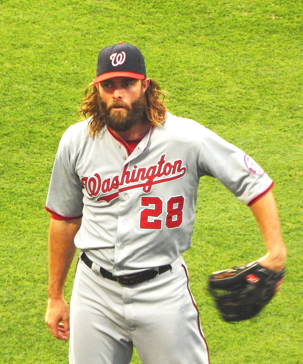 Jayson Werth playing left field for the Washington nationals