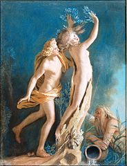 Apollon et Daphné d'après le groupe Antique de Palais Borghese