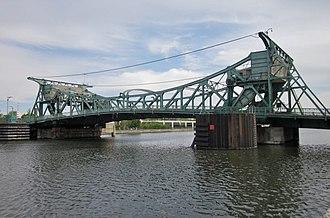 William Donald Scherzer - The Jefferson Street Bridge, in Joliet, Illinois, one of four Scherzer Rolling Lift bridges still in use in that city
