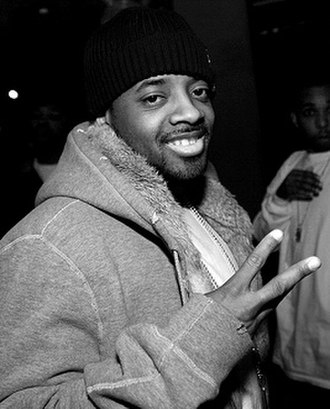 Irresistible (Jessica Simpson song) - Jermaine Dupri (pictured) appears on the video for the song's So So Def remix.  Photo: Timothy M. Moore