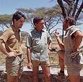 Jesús Mosterín, Hugo van Lawick and Félix Rodríguez de la Fuente in Africa (1969).jpg