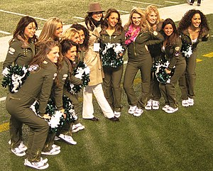 Jets Flight Crew - Jets Flight Crew cheerleaders during a 2008 game against the Miami Dolphins