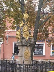 Socha Panny Marie Rušánské - pomník