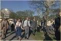 Jimmy Carter and Rosalynn Carter during a walk along Washington's tidal basin. - NARA - 178847.tif