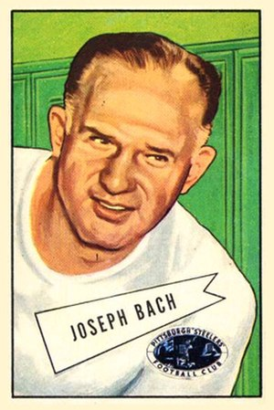 Joe Bach - Bach on a 1952 Bowman football card