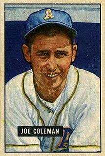 Joe Coleman (baseball, born 1922) American baseball player