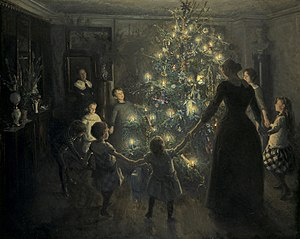 Christmas tree - Glade jul by Viggo Johansen (1891)