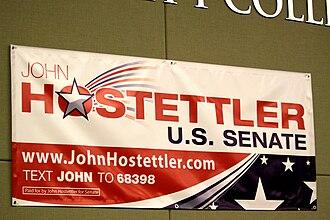 John Hostettler - Hostettler for Senate campaign sign