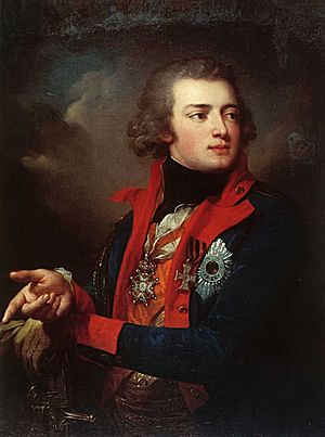 Valerian Zubov - Valerian Zubov shown here in a painting by Josef Grassi. Painted in 1796.