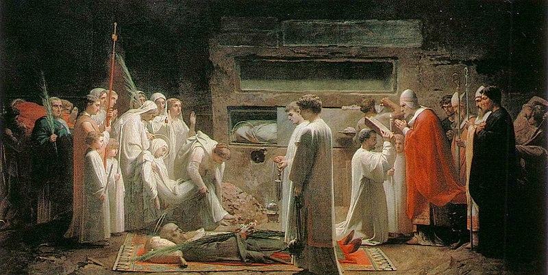 File:Jules Eugene Lenepveu The Martyrs in the Catacombs.jpg