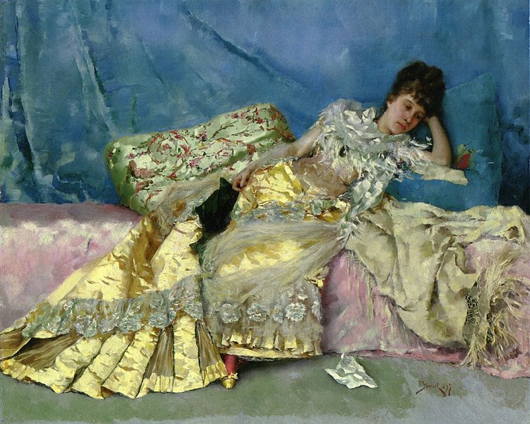 Ficheiro:Julius LeBlanc Stewart - Lady On A Pink Divan.jpg
