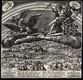 Jupiter in his chariot drawn by eagles. Engraving by J. Sade Wellcome V0024862.jpg