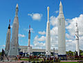 KSC Visitors Center rocket garden.JPG