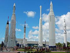 KSC Visitors Center rocket garden
