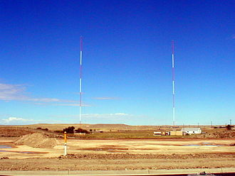 KTWO (AM) - KTWO's towers are located east of Casper.
