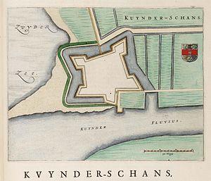 Kuinre - Image: Kaart van de schans van Kuinre (Kuynder schans)