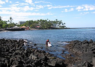 History of surfing - Kahalu{{okina}}u Bay was the site of an ancient surfing temple.