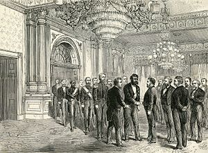 State visits to the United States - Kalakaua is received by Ulysses Grant during the visit of Hawaii in 1874.