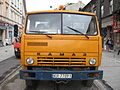 KamAZ-based asphalter truck during Długa street reconstruction in Kraków (3).jpg