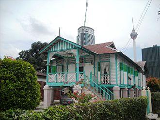 Kampung Baru, Kuala Lumpur - Traditional house in Kampung Baru, Kuala Lumpur