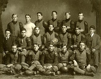 Kansas State Wildcats football - The 1905 team was the first coached by Mike Ahearn (left)