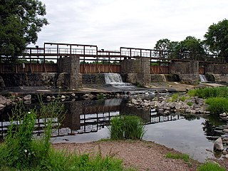 The river Virvycia. The Kapenai dam