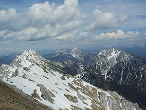 Karawanks - View of the Eastern Karawanks from the Hochstuhl/Stol