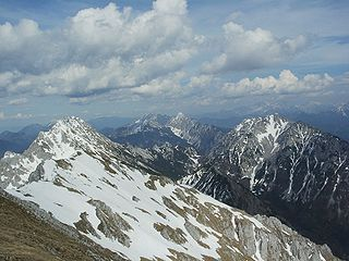 Karawanks mountain range along the border Austria / Slovenia