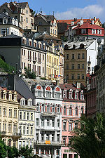 The Bohemian town of Karlovy Vary.