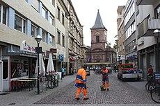 """Karlsruhe, """"Kleine Kirche"""" und Kreuzstraße.JPG"""