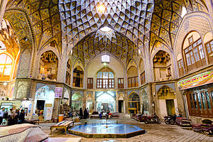 Aminoddole Carvansarai - Grand light well at theTimche-ye Amin od-Dowleh section of Kashan Bazaar.