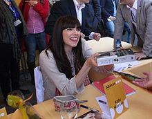 Morton at a book signing in Barcelona, April 2013