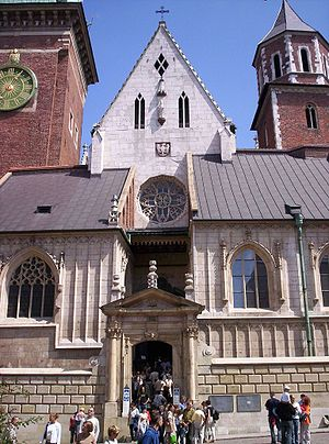 Sophia of Halshany - Queen Sophia's Chapel (left) of the Wawel Cathedral, funded by Sophia in 1431–1432