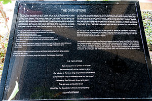 Keningau Oath Stone - Informations about Batu Sumpah Keningau at the District Office