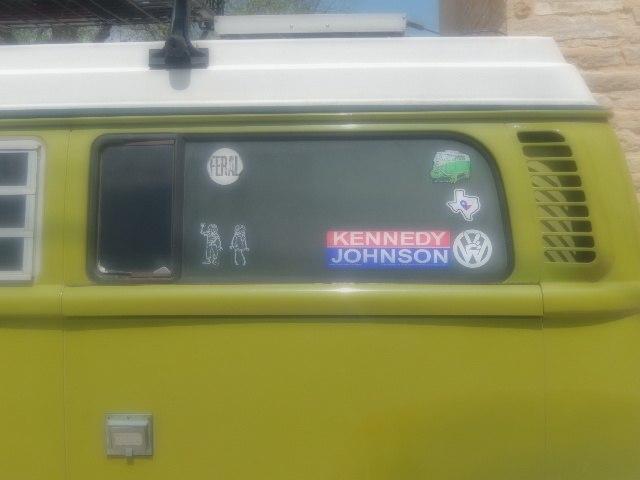 Kennedy-Johnson bumper sticker in 2014 DSCN1403