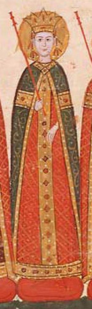 Keratsa of Bulgaria - Manuscript miniature of Keratsa (Tetraevangelia of Ivan Alexander).