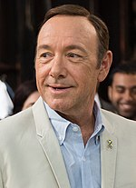 Photo of Kevin Spacey on the set of House of Cards during Maryland Gov. Martin O'Malley's visit in 2013.
